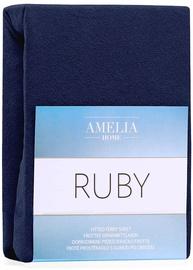 Palags AmeliaHome Ruby, zila, 160x200 cm, ar gumiju