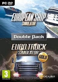 European Ship Simulator and Euro Truck Simulator Gold Double Pack PC