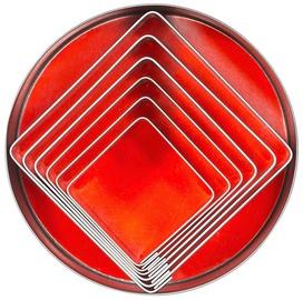Contacto Square Plain Cutters 6pcs