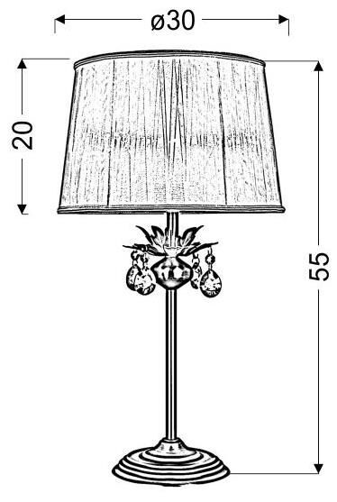 Candellux Adonis E27 Table Lamp Patina