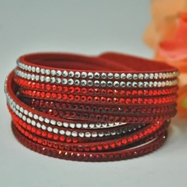 Vincento Bracelet Double Crystalsnake LB-1024