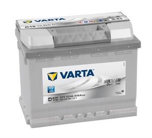 Akumuliatorius Varta SD D15, 63 Ah, 610 A, 12 V