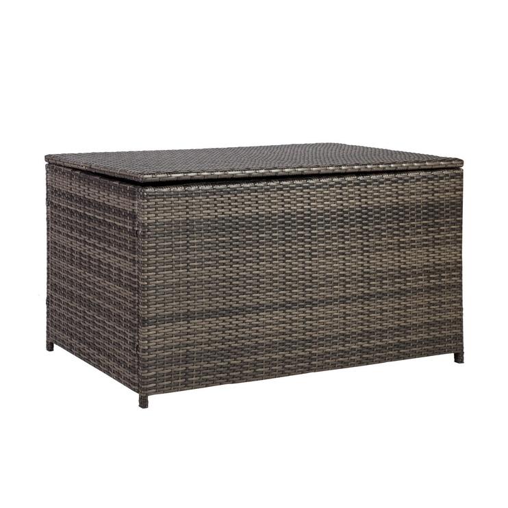 Home4you Wicker Pillow Box 122x52x62cm Dark Brown