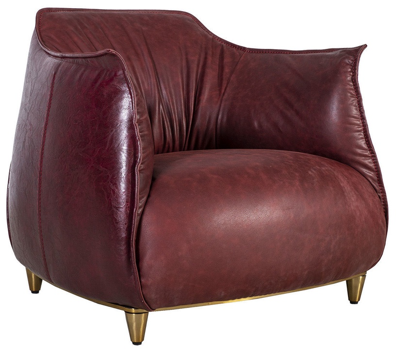 Home4you Armchair Tulip Dark Red 38041