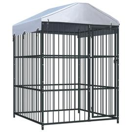 Koerapuur VLX Outdoor Dog Kennel w/ Roof Black, 1500x1500x2100 mm