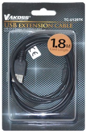 Vakoss Cable USB to USB Black 1.8m
