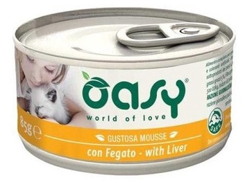 Oasy Adult Cat Wet Mousse w/ Liver 85g