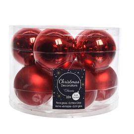 Jõulupuu ehe 9140138 Red, 60 mm, 10 tk