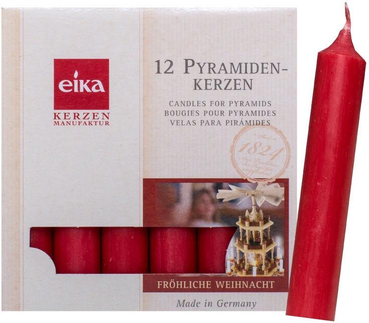 Eika Kerzen.Eika Christmas Tree Candles Red 12pcs