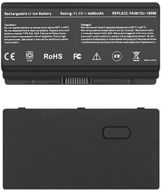 Qoltec Long Life Notebook Battery For Toshiba L40/L45 4400mAh