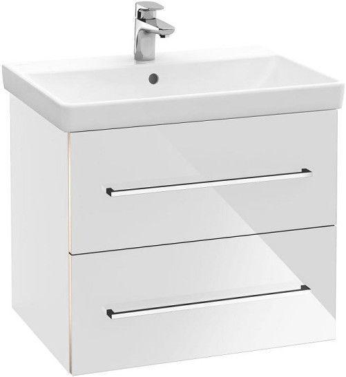 Шкаф для ванной Villeroy & Boch Avento with Basin 567 x 447 mm Crystal White