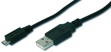 Assmann Cable USB / USB-micro Black 1 m