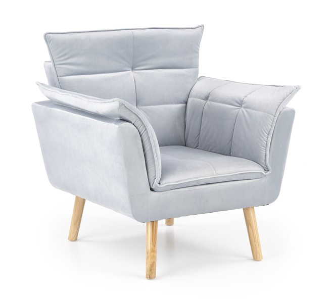 Fotelis Halmar Rezzo Light Grey, 73x80x84 cm