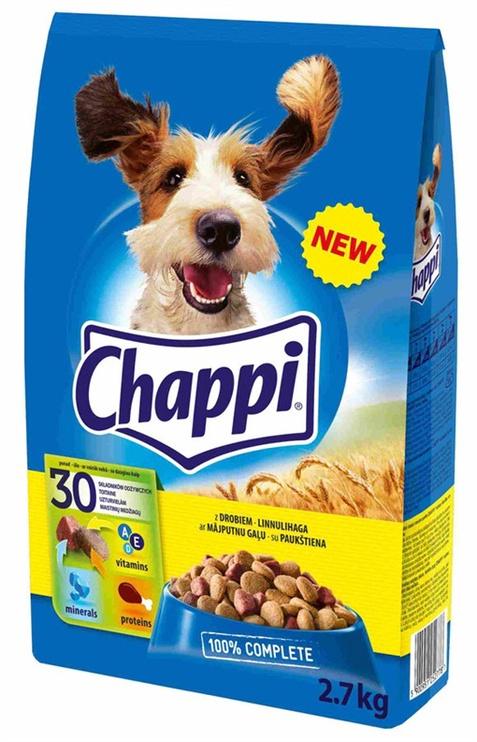 Sausas ėdalas šunims Chappi, su paukštiena ir daržovėmis, 2.7 kg