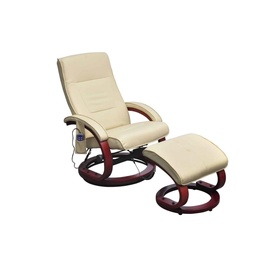 Tugitool VLX Massage 240066, kreemjasvalge, 96 cm x 66 cm x 99 cm