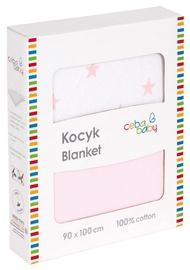 Ceba Baby Jersey Baby Blanket 90x100cm Pink Stars