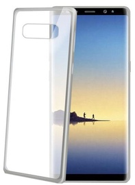 Celly Laser Back Case For Samsung Galaxy Note 8 Silver