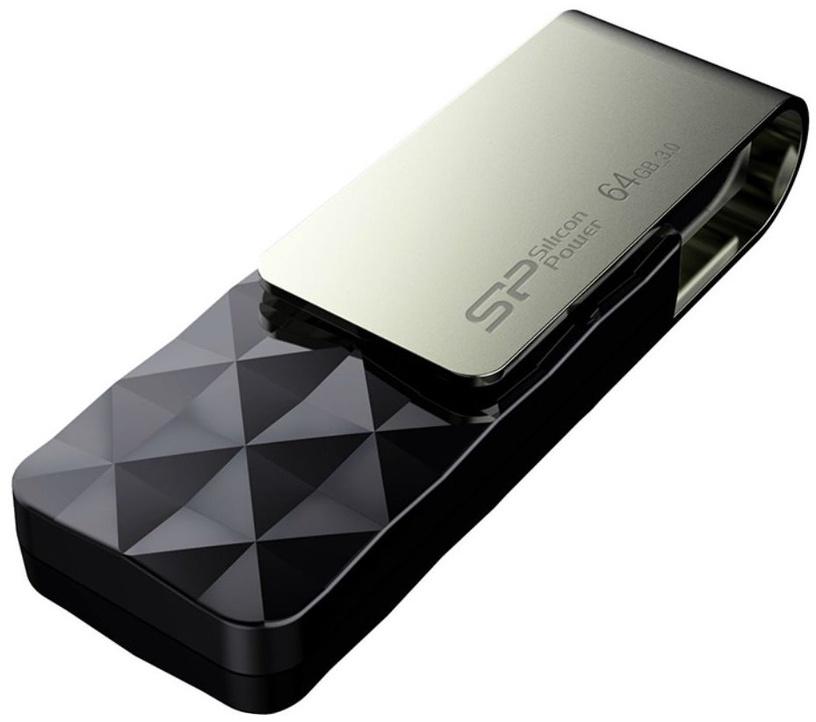 USB флеш-накопитель Silicon Power Blaze B30 Black, USB 3.0, 64 GB