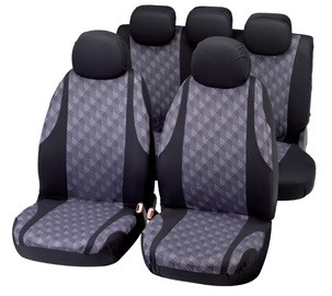 Bottari Jaquard Seat Cover Set Black Grey