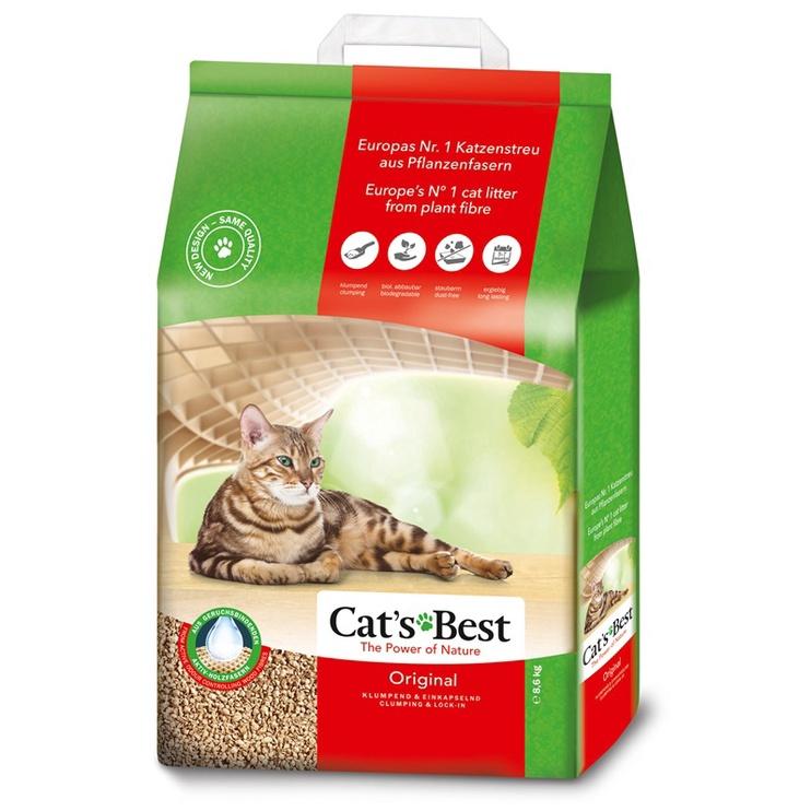 Kačių kraikas, natūralus, Cat's Best Oko Plus, 8,6 kg