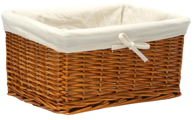Home4you Basket Max 30x21x18cm Light Brown