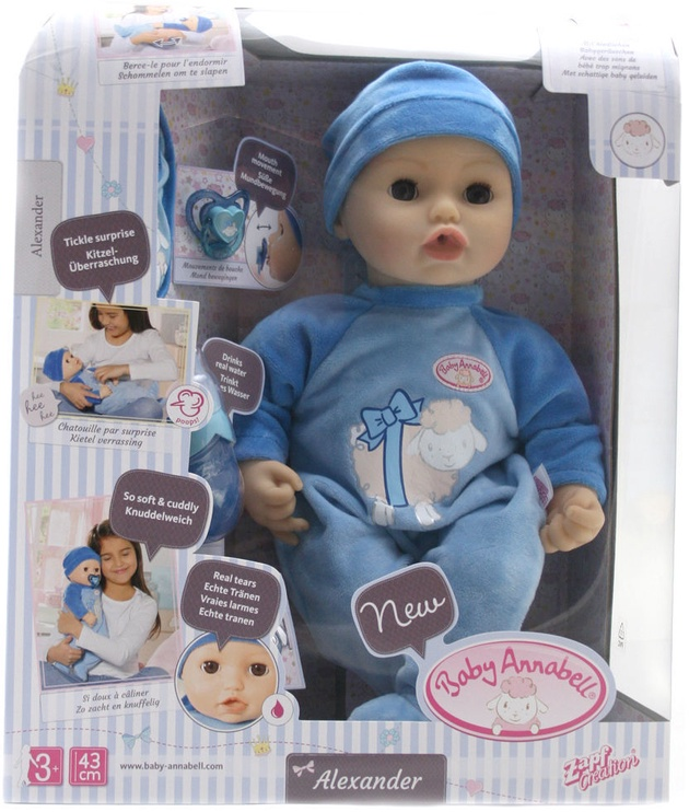 Zapf Creation Doll Baby Annabell Alexander 43cm Crying