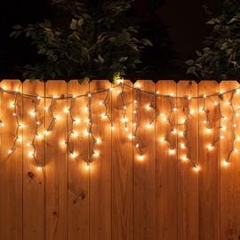 Girlianda Varvekliai, 160 LED, šilta balta, 3.1 m