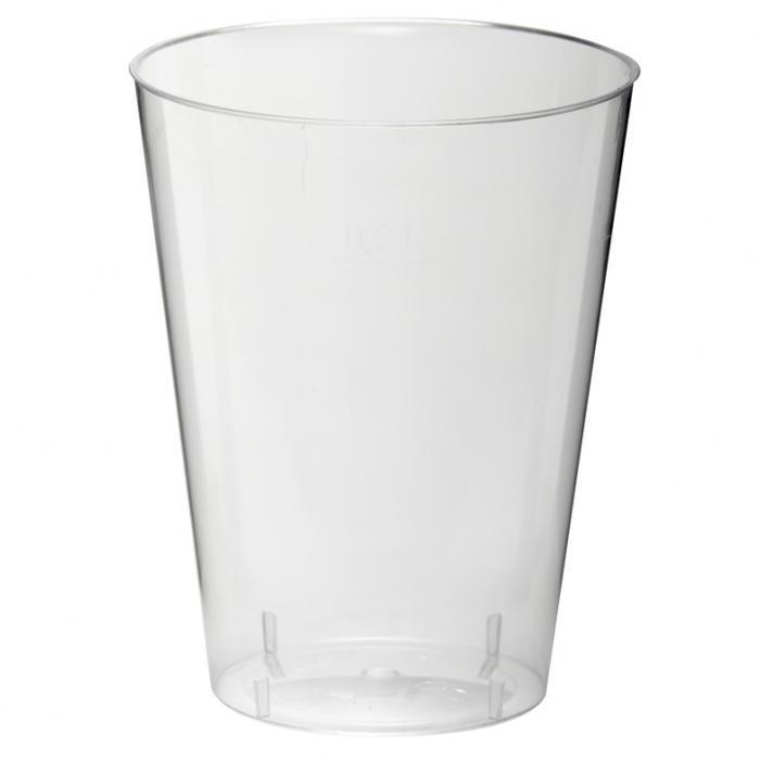 Vienkartinės stiklinės Papstar 200 ml, 10 vnt