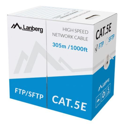 Lanberg Cable CAT 5e UTP 305m Gray