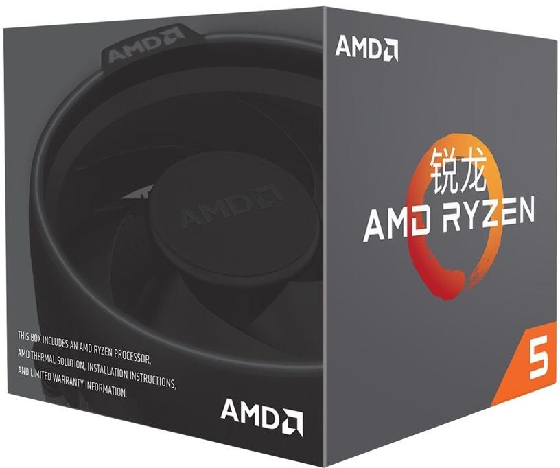 Procesors AMD Ryzen 5 1600 3.2GHz 16MB BOX w/Wraith Spire YD1600BBAEBOX, 3.2GHz, AM4, 16MB