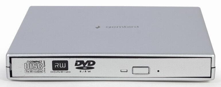Optiskā ierīce Gembird DVD-USB-02-SV External USB DVD Drive Silver