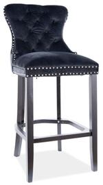 Bāra krēsls Signal Meble August H-1 Velvet, melna