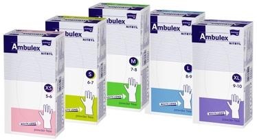 Matopat Ambulex Nitryl Powder Free Gloves S White 100pcs