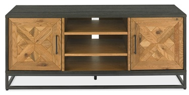TV-laud Home4you Indus Mosaic Oak/Black, 1330x380x550 mm