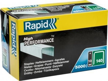 Rapid Flatwire 140/10mm Green Staples 5000pcs