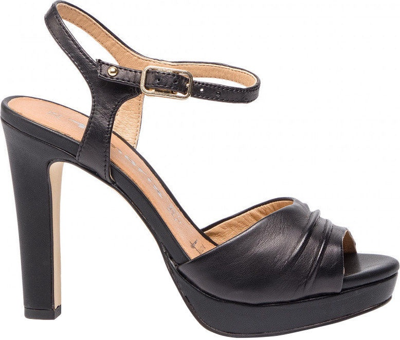 Basutės, , Tamaris Myggia Sandal 1-1-28376-22, Black Leather, 40