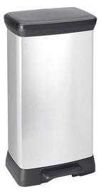 Curver Deco Bin 50l Silver