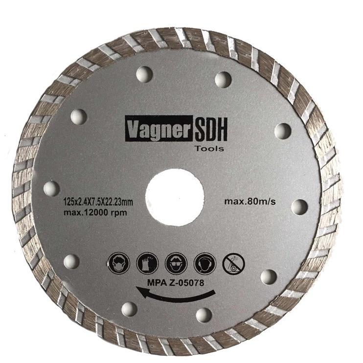 Teemantlõikeketas Vagner Turbo 180x2.6x22.23mm