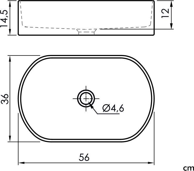 Раковина Sanycces LA500006, 550x350x150 мм