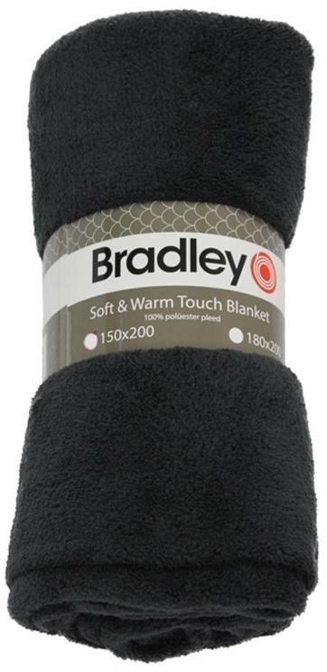Bradley Plaid Fleece 180x200cm Dark Grey