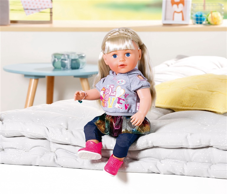 Lelle Zapf Creation Baby Born Soft Touch Sister 43cm Blond