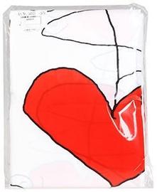 Vannitoakardin Ridder Textile, valge/punane, 2000 mm x 1800 mm