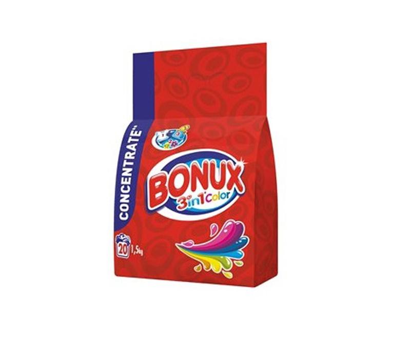 Skalbimo milteliai Bonux 3 in 1 Color, 1.5 kg
