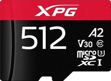ADATA XPG microSDXC 512GB UHS-I U3 Class 10 A2