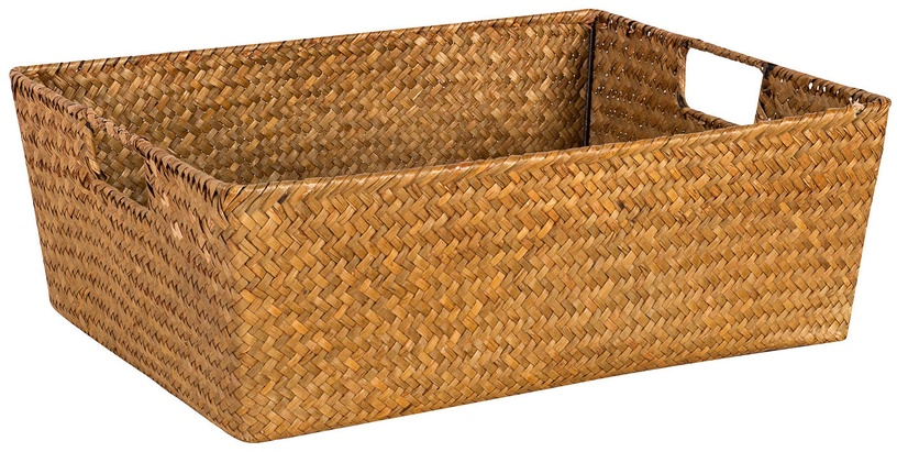 Home4you Basket 2 Petra 37x28x14cm Brown