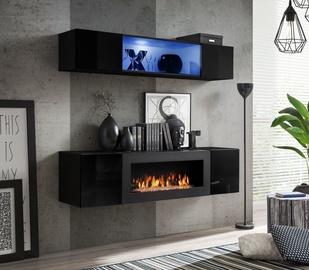 ASM Fly N3 Living Room Wall Unit Set Black