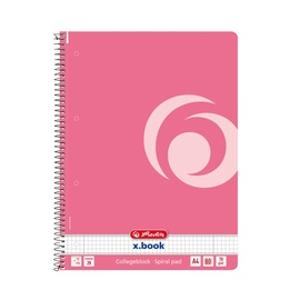 Herlitz Spiral Notepad A4/80p Pink