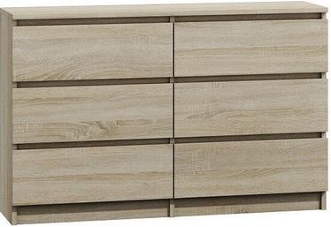 Kumode Top E Shop M6 Malwa 6 Drawers 120cm Sonoma
