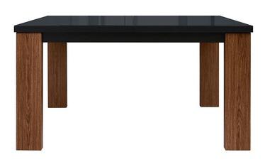 Black Red White Arosa Extendable Table 140/180cm Oak Brown/Black Gloss