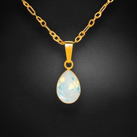 Diamond Sky Pendant Crystal Drop White Opal With Crystals From Swarovski
